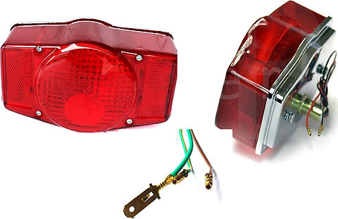 Honda CB Red Tail Light Lens w/ Gasket -  #33701-341-671 & 33709-341-671